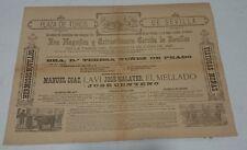 ANTIGUO CARTEL PLAZA DE TOROS DE SEVILLA 1885   59x43 Centimetros