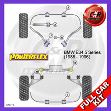 BMW E34 5 Series 88-96 Fr Aluminium Arms, Rr Trail Arm Adj Powerflex Full Kit