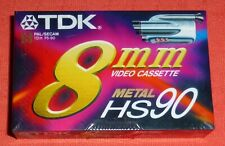 TDK 8MM METAL HS 90 BLANK CAMCORDER TAPE - P5-90HSEC - BRAND NEW & SEALED