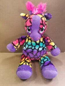 "Build a Bear 16"" Giraffe Purple Rainbow Spots Plush Toy Stuffed Animal"