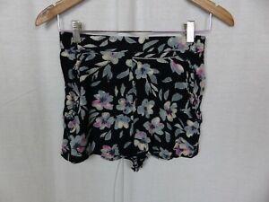 Urban Outfitters Floral Boutonnée Combi-short bleu marine rose M UK 12 NEW entièrement neuf sans étiquette £ 46
