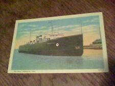 Car Ferry boat Ashtabula, Ohio 1910?  postcard f20