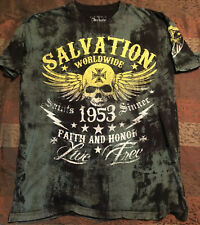 ARCHAIC by AFFLICTION Mens T-Shirt WORLDWIDE FAITH AND HONOUR Skulls 2XL