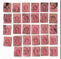 Natal - circa 1904-13 Edward VII 1d red stamps x 29 (Batch 2)