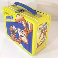 Nestle Nesquik Bunny Bosley Boxes Tin Lunchbox Lunch Box Pail Metal Nesquick