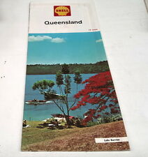 1974  SHELL  Oil Co. ROAD MAP of  QUEENSLAND  AUSTRALIA