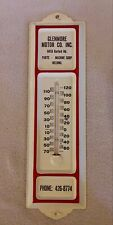 VINTAGE GLENMORE MOTOR CO. INC. METAL THERMOMETER HARFORD RD.