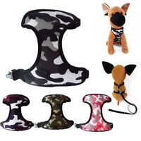 Adjustable Dog Puppy Camouflage Harness Mesh Vest for Small Big Pet Dogs Walking