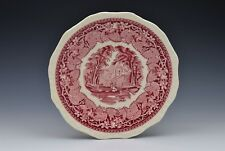 Masons Red/Pink Vista Ironstone Round Salad Plate 8""