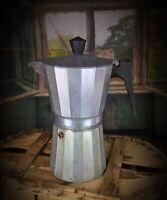 Rare model Cafetière moka coffee maker aluminium bakélite XXe Italy art déco PN