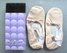Dance Class Child's Size 4 Split Sole Ballet Slippers Pink Leather - New in Box
