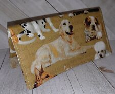 Wallet Checkbook Cover Document Coupon Organizer Dog Breed Fabric Print USA Made