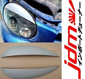 For Subaru Impreza Eyebrows Eyelids Headlight Covers 2000-2002 WRX STI Set 2pcs