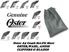 10 pc OSTER GUIDE ATTACHMENT Blade COMB SET*Fit A5,A6 & Most Wahl,Andis Clipper