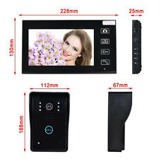 Wireless 7'' LCD display Video Door Phone Intercom Security Entry System Monito