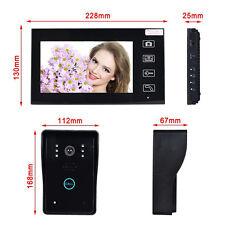 "Wireless 7"" LCD display video PHONE PORTA INTERFONO sicurezza Entry System Monitor"