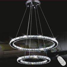 LED Kristall Hängeleuchte Dimmbar Deckenlampe Pendelleuchte Lüster Kronleuchter