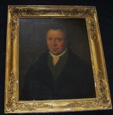 """Magnifique école Française du XIX e siècle  """"portrait d'homme  """" sig LECERF 1845"""