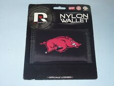 ARKANSAS RAZORBACKS   Nylon TriFold WALLET     by Rico   NIP  black
