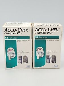 Accu-Chek Compact Plus Test Strips Drums 102 strips HARD TO FIND Discontinued
