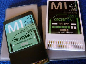 Korg M1 Orchestra 1 Card Set  -- Includes PCM Data Card & Performance Card!