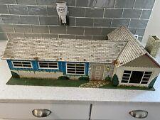 Marx Tin Litho Ranch Dollhouse, Vintage Kids Toy Playhouse 1950s