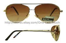EXTREME OPTIKS* Polar Vision SCOUT Unisex Sunglasses GOLD Eliminate Glare PILOT