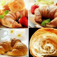 Stainless Steel Croissant Roll Cutter Wooden Handle Kitchen Bread Baking To E2V9