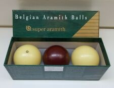 BILLIARD BALLS CAROM BALL SET Super Aramith 61.5 mm BELGIAN BILLIARDS