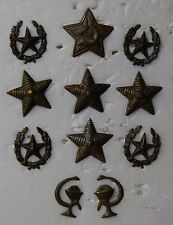 Epaulettes Strap Peak Cap Star Military field Uniform Soviet Red Army LOT # 11