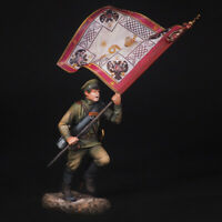 Tin Soldier, Unter-officer with a banner, The Great War, 54 mm