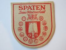 Vintage Beer Bierdeckel Coaster ~ SPATEN Brewery ~ Since 1397 ~ Munich, GERMANY