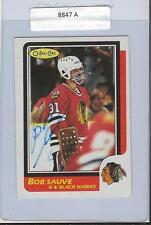 Bob Sauve 1986 OPC Autograph #124 Blackhawks