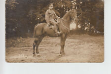 RPPC of Mounted RFA Soldier by East Grinstead Photo Co. Railway Approach