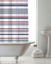Shower Curtains With Hooks Bathroom Curtain Bath Accessories Grey Stripes