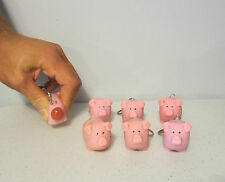 8 NEW NAUGHTY POOPING PIG KEYCHAINS SQUEEZE ANIMALS POOP TURD KEY RING CHAIN