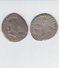 Gertbrolen Henri IV  (1589-1610)  Demi franc  en  argent 1604 Montpellier