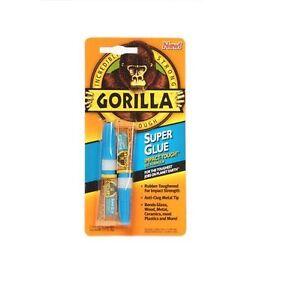 Gorilla Adhesive Bonding Super Glue Twin Pack - 2 x 3g Tubes