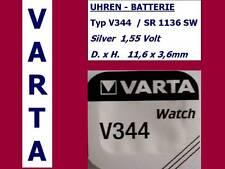 344 , V344 , SR1136SW Batterie Varta Watch Knopfzelle 1,55V.