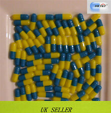 Drt&t 100 cápsulas de gelatina azul amarillo vacío llenando Talla 2 Talla 2