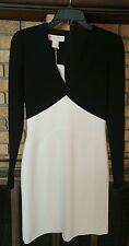 Emilio Pucci Stretch Wool Black/White VNeck Dress NWT Size 6 $1790