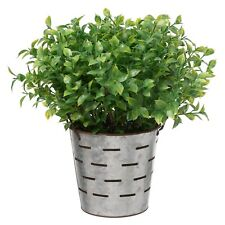Greenery Artificial Plant in Silver Tin Pot made by hand Quality Controlled