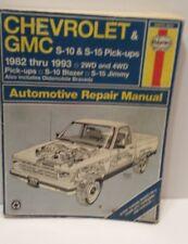 Chevrolet GMC S-10 & S-15 Pick-Ups 1982-1993 Automotive Repair Manual Haynes
