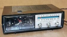 Vintage York TC-105 AM/FM Clock Radio Glowing Solid State Tested & Working
