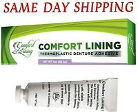 Longest Lasting Thermoplastic Denture Adhesive Comfort Lining for Dentures 1oz