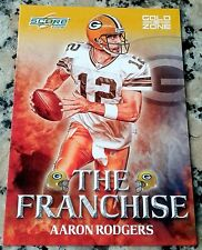 AARON RODGERS 2008 Score The Franchise GOLD ZONE SP 56/500 Packers Superbowl MVP