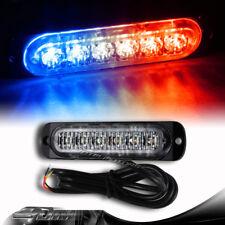 6-LED Red/Blue Car Truck Emergency Flash Warning Beacon Strobe Light Universal 1