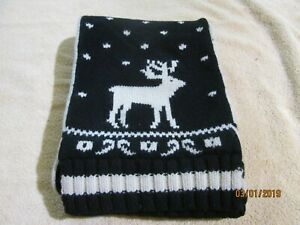 New Polo Ralph Lauren Rugby Wool Scarf One Size double sided snow ski deer