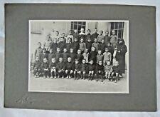 1930CA - FOTO CARTONATA SCOLARESCA CLASSE SCOLASTICA  - SCUOLA ALUNNI