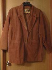 Womens Atlantic Beach Camel Caramel Tan Suede Leather Coat Jacket Blazer Plus 2X